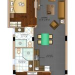 The Eternal Wave Goa Floor Plan 2 BHK