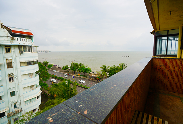 View of Marine Drive from Balcony