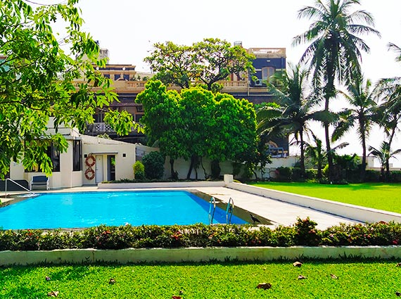 Lawns and Pool Area Samudra Mahal
