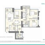 Wadhwa 25 South 3 BHK Floorplan