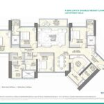 25 South 4 BHK Double Height loorplan