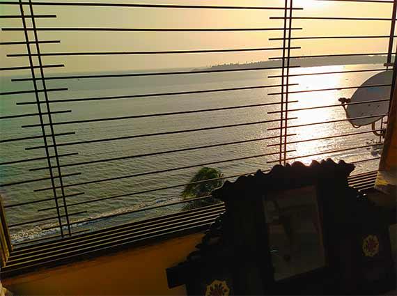 Sea View from Window Apartment Mumbai