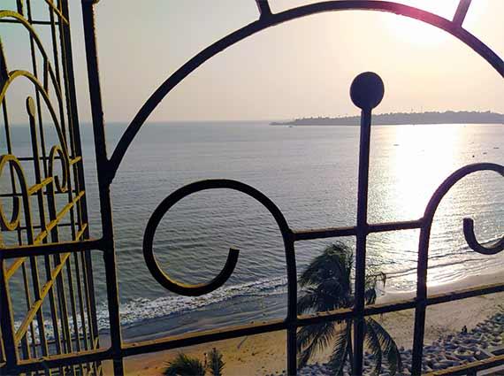 Sea View from Bedroom Window