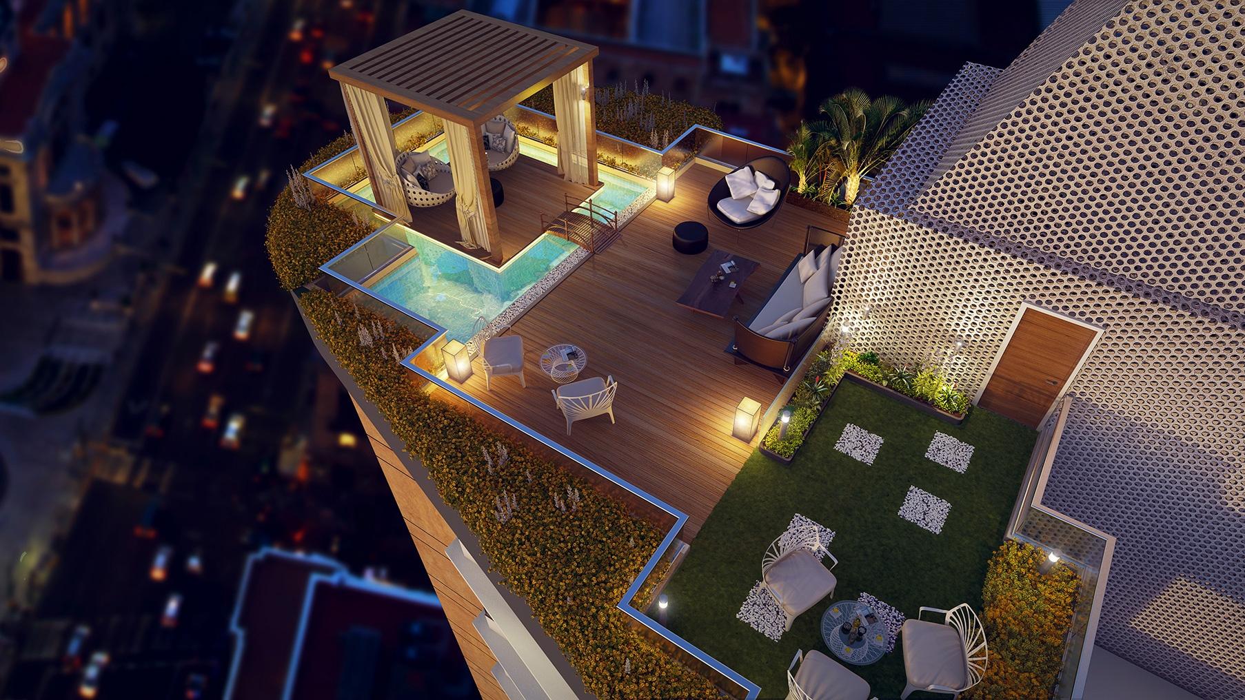 presidential suite private terrace