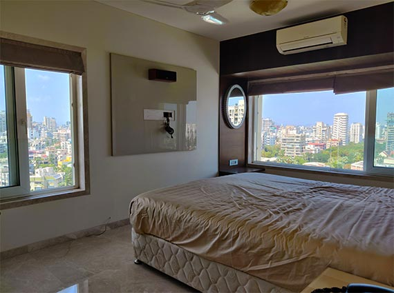 Bedroom View from Chand Terrace Bandra