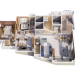 Isometric View Premier Suites South Bay