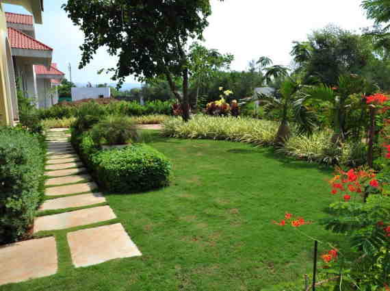 villas surrounded by gardens