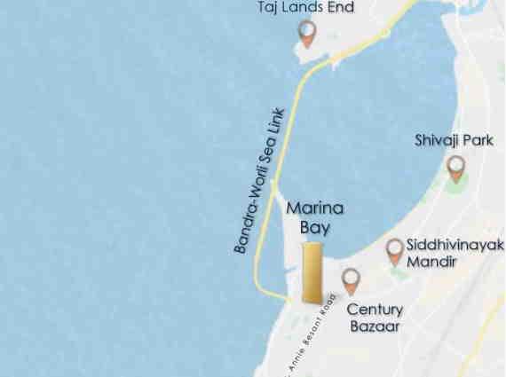 sugee property location Worli map