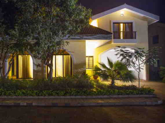 beautiful houses in villa complex