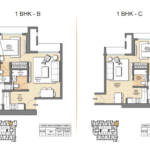1 BHK Auris Ilaria floorplan