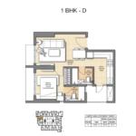 1 BHK D Auris Ilaria Floorplan