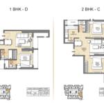 2 BHK Auris Ilaria Floorplan