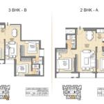 2 BHK Floorplan Auris Ilaria