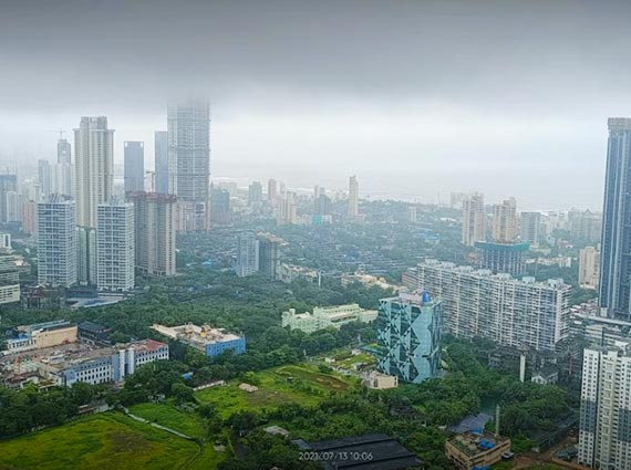 lush green landscape view from apartment prabhadevi