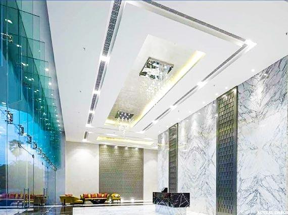 spacious lobby raj grandeur