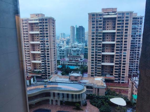 mumbai view from luxurious apartment in andheri