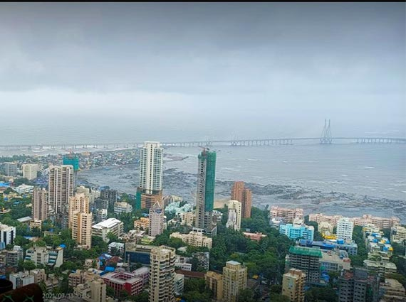 magnificent sea view from apartment mumbai
