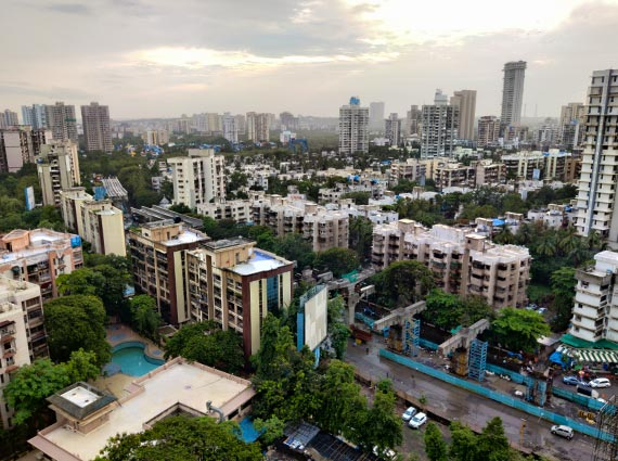mumbai skyline seen from affluent flat on sale