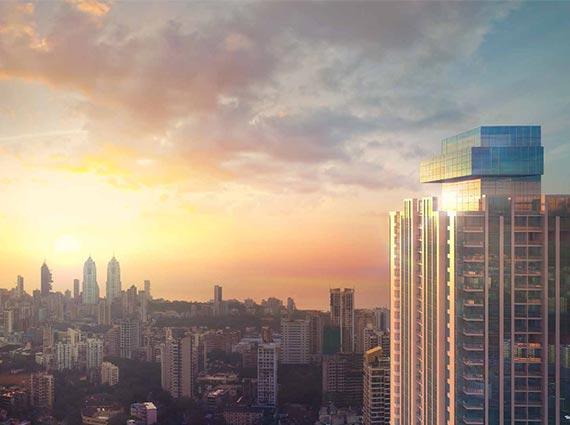 monte south tower mumbai skyline