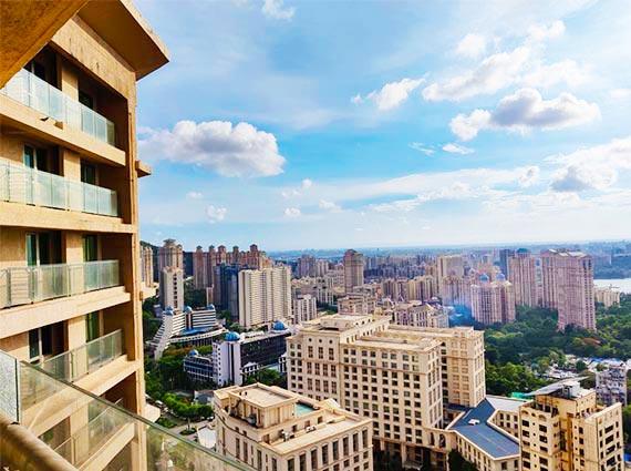 raj grandeur apartment showing mumbai view