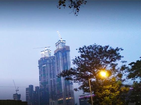 rustomjee crown towers view mumbai