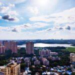 gorgeous mumbai skyline view from apartment raj grandeur