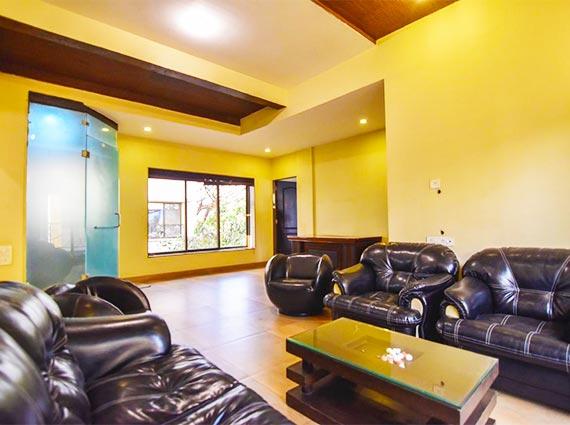 contemporary furnishings in lonavala villa