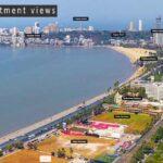 Marine Drive South Mumbai Drone View